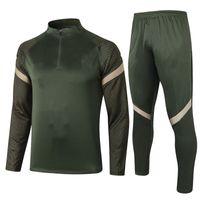 Half-pull Atletico Madrid Army Green Football Jacket Sportswear Football Shirt Training Sportswear