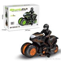 2.4G RC Car Mini Motorcycle Remote Control Motor Electric 360 Rotating Drift Motorbike High Speed Climbing Motor Children Children Toys