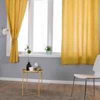 Geometrischer Vorhang Halbschattierungen Baumwolle Leinenvorhänge für Schlafzimmer Wohnzimmer Küche