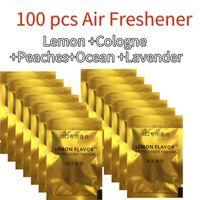 Freshener de ar de carro 100 pçs / lote sabor pedaço sólido para condicionamento ventilação clipe acessórios de perfume tslm2