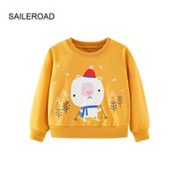 SAILEROAD Fashion Skiing Bear Kids Baby Hoodies Girls Kids Sweatshirt Boy Long Sleeve T-shirt Tops Sport Shirt Sweater G0917