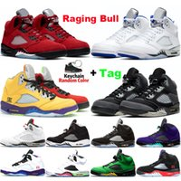 Raging Bull 5s Basketball Shoes Stealth Jumpman Mens Anthrac...