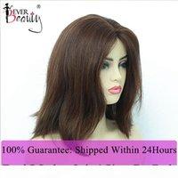 Peluca judía pelucas kosher pelucas de pelo europeo Bob recto cabello humano # 613 # 4 pelucas de color para mujeres Doble dibujado siempre de belleza virgen