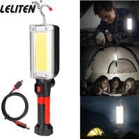 COB LED El Feneri Çalışma Işık Torch USB Şarj Edilebilir Kamp Çadırları Fener Işık Taşınabilir El Feneri 210322