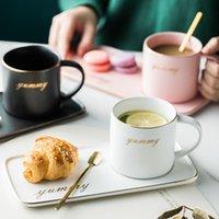 Cups & Saucers Creative Ceramic Coffee Mug European Tea And Saucer Sets Turkish Tumbler Latte Cup Soy Milk Breakfast Mugs Dessert Plate