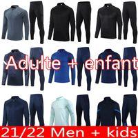 21 22 homens Kids Kingdom Futebol Jersey Tracksuit Chandal Futbol United 2022 Argélia Futebol Treinamento Terno Mahrez FeGhouli Survace Survetement Tuta Jogging