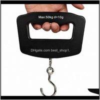 Portable Mini Digital Main tenu 50kg * 10g crochet de poisson à poisson suspendu pondération électronique Bagage Balance de bagages Blue Backlit LED Affichage GZLOB SU0MZ