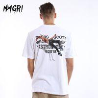 Nagri Men T-Shirt Fan Travis Scotts Astroworld Pocket Graphic Magliette Lettera Stampa Streetwear Hip Hop T Tee
