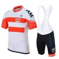 Team Iam Cycling Abbigliamento Manica Corta Summer Cycling Jerseys Cycling Bib Shorts Set Maillot Ciclismo Iam Bike Abiti da bici 32588