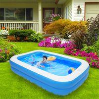 US Stock Inflatable Swimmingpool Tillbehör Vuxna Barn Badkar Utomhus Inomhus Hem Hushålls Baby Slitstarkt Tre-Layer Design Väggtjocklek 0.3mm