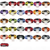 Mix Styles Football Team Paracord Survival Bracelets Custom Made Camping Sports Bracelet NCAA College Charm team umbrella bracelet2121
