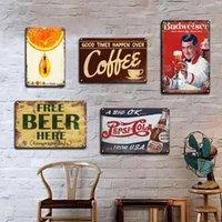 Peinture en métal Guinness Cola Vintage Signe d'étain Signe de la bière Sticker mural Plaques décoratives Rétro Pub bar Cuisine Décor Plaque Personnalité