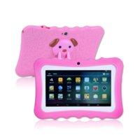 "Kids Tablet PC 7 ""رباعية النواة الروبوت 4.4 هدية عيد A33 جوجل لاعب WIFI Big Speaker واقية غطاء 8G"