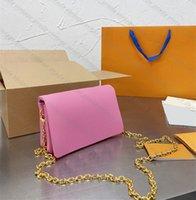 En Kaliteli Hakiki Deri Zincir Kadın Naylon Omuz Çantası Pochette Coussin Tote Lüks Tasarımcı Crossbody L Akşam Çanta Çanta Moda Cüzdan Çanta Çantalar