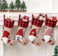 Christmas sock Swedish Santa Claus dwarf gift bag hanging Christma socks decorations DD652