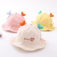 Lovely Antler Bucket Hat Boys Girls Kawaii Cartoon Sun Toddler Kids Baby Fisherman's Summer Sunshade Children Cap Gorras Caps & Hats