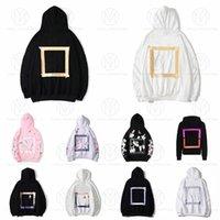 Hoodies Mens Womens Fashion Streetwears Homem Sol Pullover Inverno Sweatshirts Loose Com Capuz Offs Designers Roupas de Alta Qualidade Impressão de rua Branco Hoody 2021