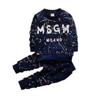 1-4 лет малыша детская одежда наборы мальчиков Пуловой шкафы + брюки Спортивная одежда Одежда Осень детей дизайнер Детские костюмы
