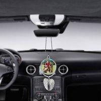 Süblimasyon Boşlukları Araba Kolye Melek Kanat Dikiz Aynası Dekorasyon Asılı Charm Süsler Otomobiller İç Arabalar Aksesuarları 495 S2