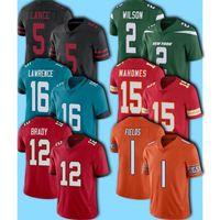 12 Tom Brady Jersey 15 Patrick Mahomes Jerseys 2021 Draft 16 Trevor Lawrence Jersey 1 Justin Fields Jerseys Trey Lance Zach Wilson Football