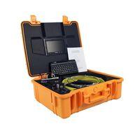 Cámara de video de la inspección de tubería de drenaje con DVR, transmisor de 512Hz, cable de fibra de vidrio 50M, cámaras IP del caso de 23 mm de teclado