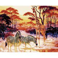 Giraffa e Zebra Animal Painting by Numbers per adulti Art fornisce vernice acrilica Kit dipinto a mano Numero dipinto a mano Home Decing dipinti