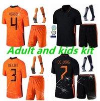 20 21 Niederlande Aduit Kids Kit de Ligt Cruyff Memphis Fussball Jersey Holland Sneijde Gullit 2021 Wijnaldum Promes Jong Virgil