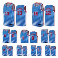 BrooklynFiletsHommes James Harden Kevin Durant Kyrie Irving Blake Griffin Joe Harris Andre Roberson 2020-21 Blue City Basketball Jersey