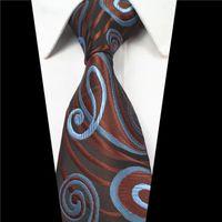 مصمم رجل العلاقات 38 تصميم الحرير الرقبة العلاقات 8 سنتيمتر منقوشة مخطط العلاقات للرجال الأعمال الرسمية حزب الزفاف gravatas 22 Q2