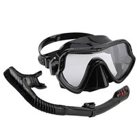 Diving Masks Dry Snorkel Set Scuba Snorkeling Adult With Mouthpieces Anti-Fog Goggles Glasses Swimming Fishing Pool Equipmen