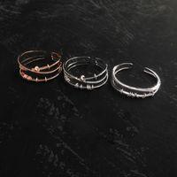 S925 Sterling Silver bangle multi-layer cross transit Circle Bracelets personality fashion design luxury jewelry Monaco Bracelet gift for girlfriend
