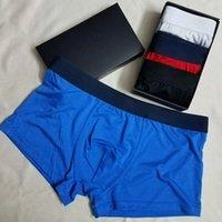 Mens Boxers Underpants 1 boîte = 3 pièces Sexy Classic Hommes Shorts Sous-vêtements Sous-vêtements Sous-vêtements Sports décontractés Sports Casual Sports Asiatique Taille peut être envoyée au hasard