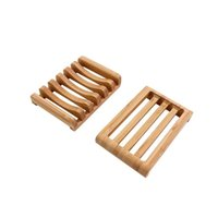 Creative bamboo and wood soap dish drain soap box household convenient home Bathroom Accessories bamboo soap bracket T2I52032