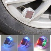 Lumières de secours 2021 1pcs LED Volet solaire roue singnal Pneu Valve air Cap Lampe de décoration flash haute luminosité croustille pour éviter les accidents