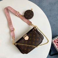 2021 Frankreich Brand Designer Umhängetaschen Multi Pochete Accessoires Geldbörsen Frauen Luxus Mode Favorit Mini 3 stücke Set Kombination Handtaschen Crossbody Bag mit Kasten