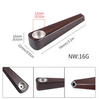 Wasserleitung Holz für Rohre 7 Arten 16G Stern Shap mit Metallschale Rauchen Bong CCF7617