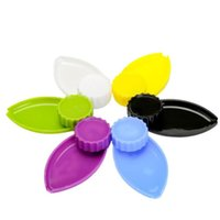 Plastic Grinder Tray 40MM smoking Herb Grinders Roll Combo All In One 2 Parts Abrader Crusher bath Tool Accessories