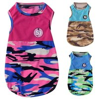 Fashion Dog Tshirt Vest Spring And Summer Party Costume Camouflage Charming Comfortable Clothes Supplies Apparel