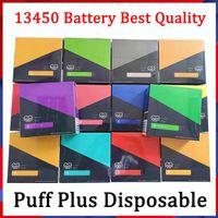 Puff plus jetable appareil Pod Starter Kit + 800 Puff 550mAh Batterie Cartouche 3,2 ml préremplie Portable Vape Pen 58 couleurs