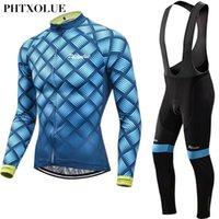 Гоночные наборы Phtxolue Велоспорт Одежда Мужчины Набор горных велосипедов Одежда носить Осенние дышащие велосипедные трикотажки Maillot ROPA Ciclismo