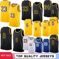 Lebron 23 6 James Men كرة السلة Jerseys Russell 0 Westbrook Los Bryant Kids Anthony 3 Davis Kyle 4 Caruso Green 34 8 32 ريترو شبكة جيرسي 2021