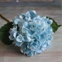 인공 수국 꽃 머리 가짜 실크 단일 진짜 터치 웨딩 센터 피스 홈 파티 장식 꽃 EEB5736