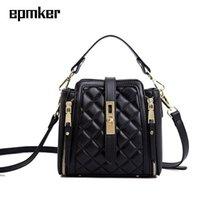 Bolsos de noche Epmker Casual Cubo de moda Monederos y bolsos Diseñador de lujo Diamante Lattice Bag Mini Crossbody Sidebag