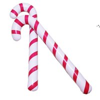 NEW88X 25 X 7cm Inflatable Candy Cane Classic Lightweight Hanging Decoration Christmas Party PVC Balloons Adornment GWB11107