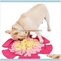 Kennels Pens Pet Supplies Home & Gardenpet Feeding Mat Flower Shape Sniffing Training Pad Fleece Blanket Dog Puzzle Toy Drop Delivery 2021 N