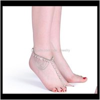 Anklets Jewelrywomen Gril Tassel Pearl Sier Color Metal Anklet Beach Summer Ankle Bracelet Foot Chain Drop Delivery 2021 82Aka