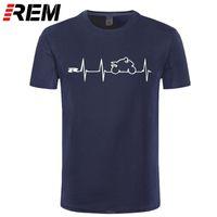 REM NIEUWE COOL T-shirt T-shirt Japan Motorfietsen Heartbeat GSXR 1000 750 600 K7 210325