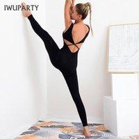 Tuta da donna Yoga Tuta Pagliaccetto One Piece Pantaloni Sport Sexy Backless Tracksuit Mujer Fitness Allenamento A Vestiti da ginnastica in esecuzione Gym set Outfit