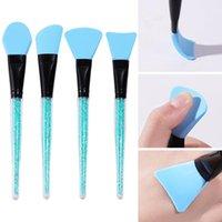 Makeup Brushes 4Pcs Professional Soft Silicone Mask Skin Care Mud Mixing Brush Facial Applicator DIY Cosmetic Face Tools