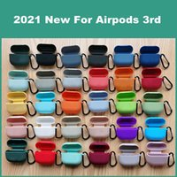 Dustproof Soft 2MM Silicone Wireless Bluetooth Earphone Cases Protective Cover For Airpods 3rd Generation Case With Hook